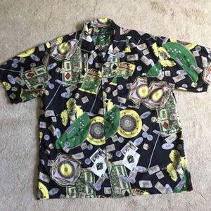 Vintage Casino Hawaiian Print Shirt